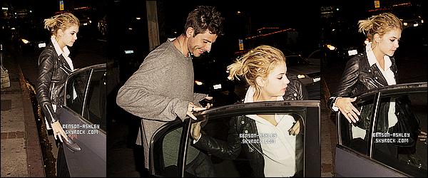* 07/03/14 : Ashley a été aperçu a la sortie du restaurant   accompagné  Vaucluse Lounge    dans Los Angeles.   Ashley a décidé de passer un peu de temps avec son ancienne co-star de Spring Breakers Vanessa Hudgens et son petit ami Austin  ! *