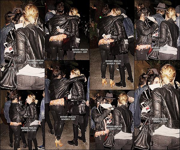 * 11/03/14 : Ashley a été aperçu a la sortie du restaurant     El Compadre   avec Ryan  situer dans Los Angeles.  Ashley a de nouveau été aperçu avec Vanessa Hudgens et Austin Butler. Elles ont décidé de passer un peu de temps a ensemble ! *