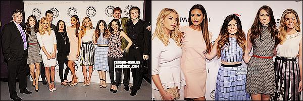 * 16/03/14 : Ashley s'est rendue  avec le cast de PLL au     PaleyFest au  Theatre Dolby   situer dans Hollywood.  Ashley est totalement magnifique sa tenue lui va vraiment a merveille. Puis en plus c'est du blanc et non du noir donc j'aime beaucoup  ! *