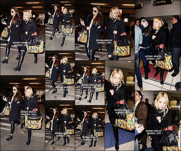 * 17/03/14 : Ashley a été aperçue avec sa co-star et amie   Shay Mitchell a l'aéroport     JFK   situer dans Los Angeles.  Ashley et tout le casting de Pretty Little Liars se sont rendue a New York pour diverse apparition télévisé et d'autres évemenents ! *