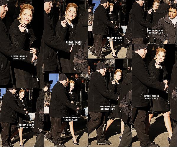 * 18/03/14 : Ashley a été aperçu  se rendre sur le plateau de     Good Morning America   situer dans New York.  C'est avec le sourire qu'Ashley a été aperçu se rendre sur le plateau de cette émission. Elle semble totalement ravie donc on l'ai aussi ! *
