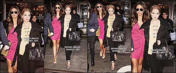 * 18/03/14 : Ashley a été aperçu avec sa  co-star Shay Mitchell  a la sortie de l'émission   The View    dans New York.  Il n'y a rien de plus a ajouté sur la tenue d'Ashley. On voit juste qu'elle a fait beaucoup de chose pour son déplacement avec le cast ! *