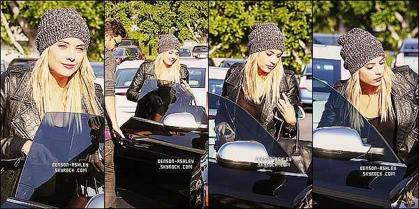 * 22/03/14 : Ashley a été aperçu en pleine ballade avec son petit ami   Ryan Good    situer en plein Beverly Hills.  Une petite balade amoureuse pour Ashley, ils semblent très amoureux et ce tienne la main ce qui n'arrive pas souvent. Ils sont mignons  ! *