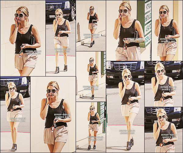 * 11/04/14 : Ashley est sortie ou elle a été aperçu au téléphone au   Sunset Plaza  situer  dans West Hollywood.  Ashley a manqué le premier jour du weekend de Coachella mais y sera présente des le lendemain. Niveau tenue, elle est assez jolie ! *