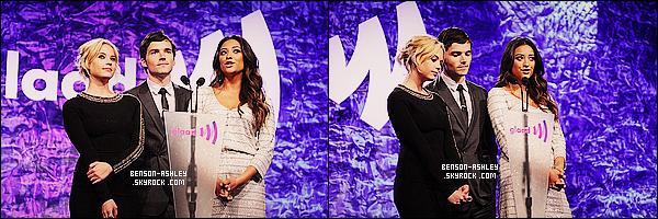 * 02/06/12 : Ashley était présente a la 23eme cérémonie des     GLAAD Media Awards   situer a San Francisco.  Une tenue assez simple pour Ashley toujours en noir mais quand même assez jolie. J'aime bien le col et les manche qui égaie la tenue ! *
