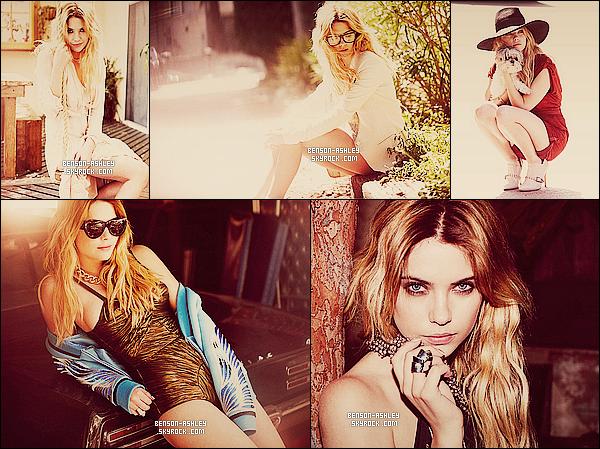 *    Ashley a réalisé un photoshoot pour le magazine « Nylon » pour le mois de Mai 2013.  *