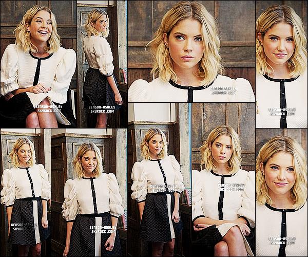 * 13/06/14 : Ashley était présente a la  conférence de presse de    Pretty Little Liars   situé dans New York City.   Ashley est dans des couleurs classiques le noir et le blanc mais avec de l'originalité dans la tenue que j'aime vraiment beaucoup,  TOP  ! *