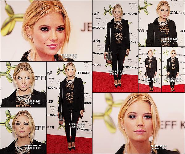 * 15/07/14 : Ashley était présente au    H&M Flagship Fifth Avenue Store Launch   qui était à New York City.  Nous avons droit a une tenue sombre et assez sexy de la part d'Ashley. Elle n'en reste pas moins jolie tout de même, c'est donc un TOP  ! *