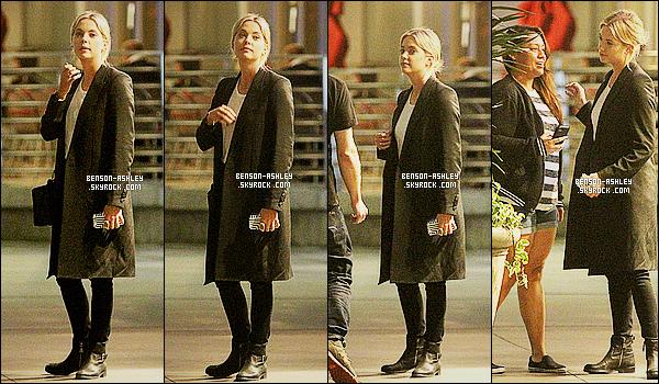 * 10/10/14 : Ashley a été aperçue avec une amie à la sortie d'un   cinéma après un bon film, situé à   Los Angeles.  Ashley semble assez fatigué aujourd'hui. Niveau tenue, elle garde le même look sombre et passe partout qu'à son habitude mais ça  va    ! *
