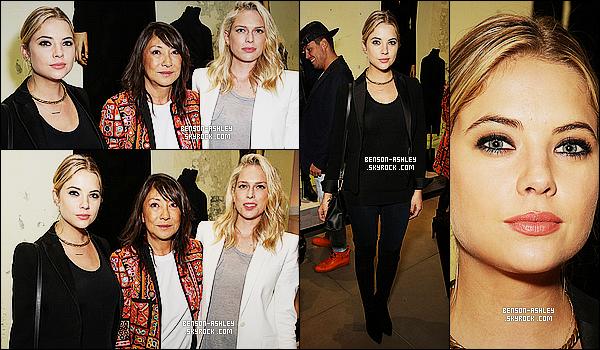 * 16/10/14 : Ashley a été aperçue lors de la soirée organisée au   Barbara Bui Store Event    situé à   Los Angeles.  Un total look noir et une coiffure tout ce qu'il y a de plus simple, Ashley ne nous montre pas ce a quoi nous avons le droit d'habitude   ! *