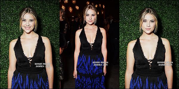 * 08/11/14 : Ashley était présente a la cérémonie  des   Baby2Baby Gala    présenté par Tiffany&co  à   Culver City.  J'aime le fait qu'Ashley est opté pour  une tenue contenant de la couleur, je trouve que sa lui va  mieux. La robe ne la met pas en valeur    ! *