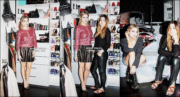 *    Ashley a reçu dans son dressing une journaliste de « Glamour » pour découvrir son univers  *