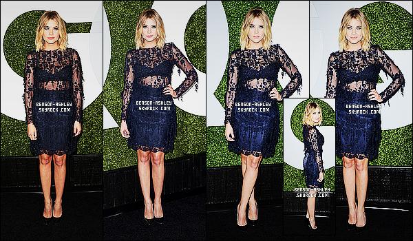 * 04/12/14 : Ashley était  présente a la soirée pour les    GQ Men of the Year     qui c'est déroulé dans  Los Angeles.  Ashley surprend, elle a osé la transparence et il faut tout de même dire que ça lui va bien. Même si c'est du noir, elle reste magnifique    ! *