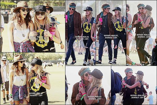 * 14/04/13 : Ashley a été aperçue avec Troian B.  lors de l'évenement organisé par    GUESS  au festival  Coachella.  Ashley était également proche de son ami Tyler Blackburn. Ils sont toujours mignons l'un avec l'autre. Niveau tenue, c'est un jolie top    ! *