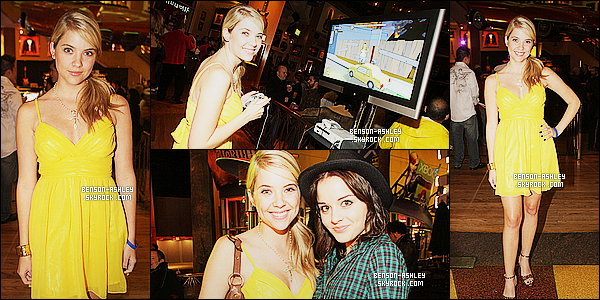 * 30/10/07 : Ashley était présente a la     EA Presents The Simpsons Game Launch Party   à  Universal City. Quoi de mieux que du jaune pour la sortie d'un jeu des Simpson. Ashley est souriante et semble s'amusé c'est une bonne chose,  TOP    ! *