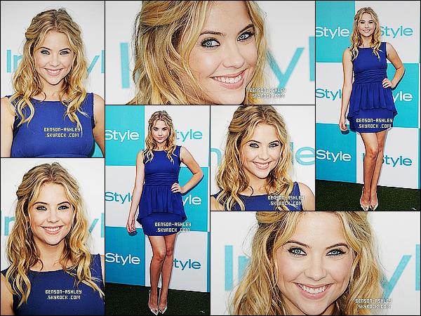 * 10/08/11 : Ashley était présente a la     10th Annual InStyle Summer Soiree: London H.  à  West Hollywood. Du bleu pour  Ashley sa fait vraiment plaisir, sa change du noir. Même si ce n'est pas la couleur idéale, la robe lui va tout de même bien    ! *