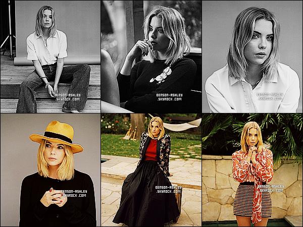 *    Ashley a réalisé un photoshoot pour  « Wonderland Magazine » avec et sans couleurs.  *