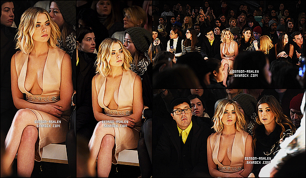 * 16/02/15 : Ashley était présente lors du défilé    Reem Acra Fashion Show  qui était situé à   New York City. Exit le noir  on a le droit a la couleur. Aussi  Ashley a mit le maxi décollecté, je n'aime pas plus que ça mais je trouve que sa reste classe     ! *