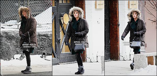 * 25/02/15 : *Ashley a été aperçu sur le tournage du film    Chronically Metropolita  qui se déroule à   New York. C'est le jour du mariage    d'Ashley. Enfin c'est son mariage fictif sur le tournage de son nouveau film qui s'est d'ailleurs achevé ce jour ci     ! *