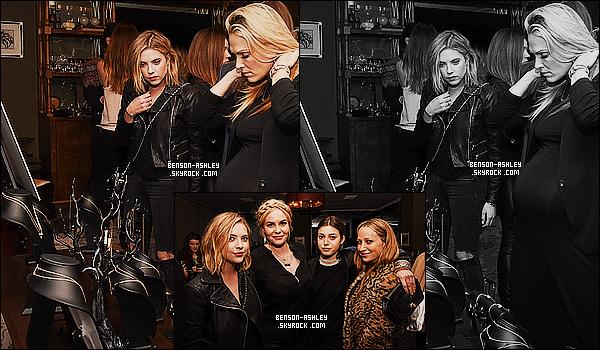 * 06/03/15 : Ashley était présente lors du     Jewelry By Nikki Erwin Launch Party   situé à   West Hollywood. Une nouvelle fois habillé en noir mais malgré tout,  Ashley est tout de même très jolie j'aime beaucoup. C'est donc un très beau TOP     ! *