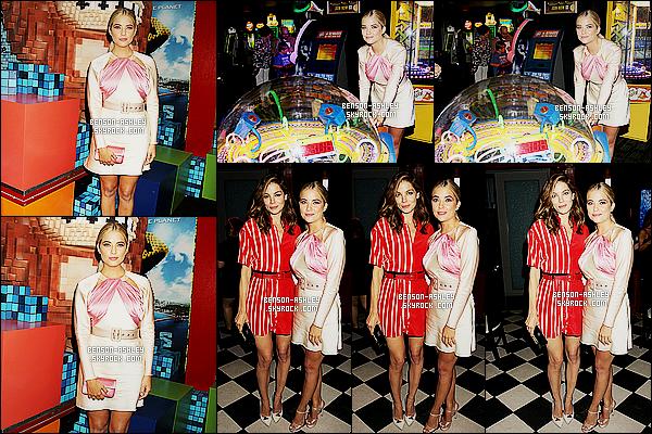 * 18/07/15 : Ashley était présente lors de la première mondiale du film      Pixels qui s'est déroulé à New York City. Je suis partagée en ce qui concerne la tenue  d'Ashley. J'aime qu'il y est a un peu de gaïté dans sa tenue mais le modèle ne me ravie pas    ! *