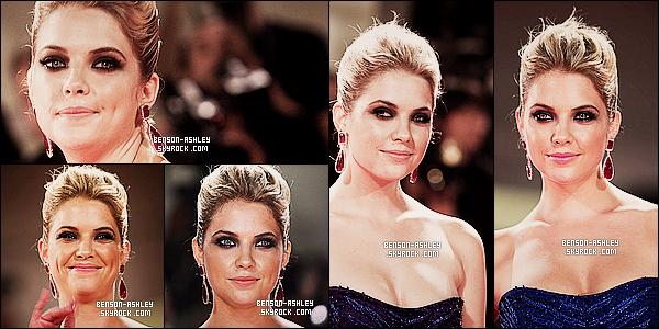 * 05/09/12 : Ashley était présente a la première de Spring Breakers au    Venise Film Festival   situé en Italie.   Ashley était dans une magnifique et longue robe bleu qui lui va si bien. La belle a fait fort pour présenté son tout nouveau film  ! *