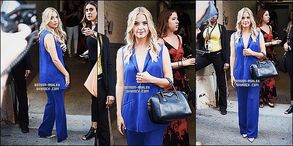 * 23/07/15 : Ashley a été aperçu au moment ou elle se rendant pour l'emission      HuffPost Live   à New York City.  Ashley s'est changé entre temps et le modèle de sa robe est bien mieux que celle qu'elle portait précedement on peut  lui mettre un top ! *