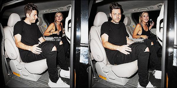 * 26/07/15 : Ashley a été aperçu accompagné de Ryan  lorsqu'elle quittait le       Nice Guy  situé à West Hollywood. Ashley a retrouvé sa couleur naturelle le noir avec un pantalon troué qui va avec celui de Ran, ils sont en accord mais c'est un BOF  ! *