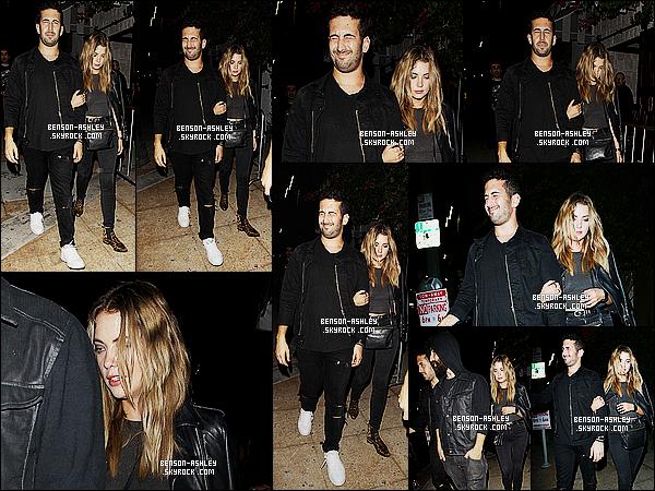* 15/10/15 : Ashley a été aperçu en compagnie d'un ami à la sortie du nightclub   Le Jardin    situé à  Hollywood. Ashley a choisit une tenue toute noire qui n'est pas exceptionnel, elle est même assez répétitive donc c'est assez décevant  BOF/FLOP   ! *