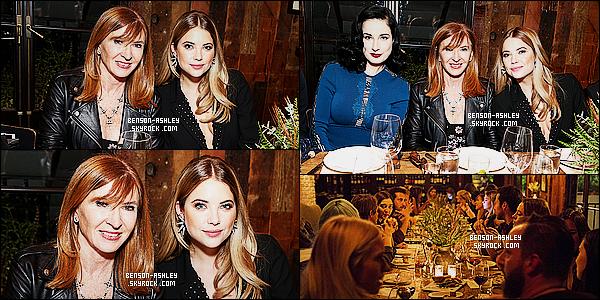 * 12/11/15 : Ashley était présente lors du   Nicole Millers Holiday Collection   qui est  situé dans  Los Angeles.  Ashley nous montres une tenue noire avec une veste magnifique et de très jolie boucles d'oreilles. L'ensemble est très harmonieux   TOP  ! *