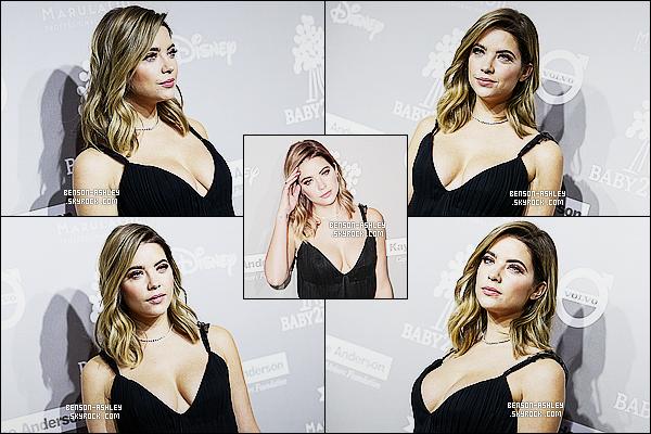 * 14/11/15 : Ashley était présente lors du gala annuel nommé  Baby2Baby  15  qui était situé dans  Culver City.  Je trouve qu'Ashley est très jolie malgré que je n'apprécie pas la robe qu'elle nous présente mais on peut attribuer un simple petit TOP  ! *