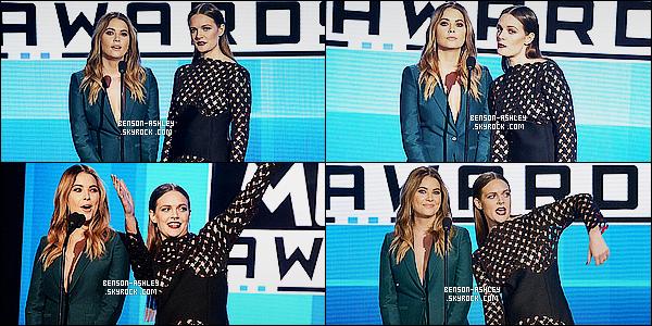 * 22/11/15 : Ashley était présente lors des   American Music Awards   qui se sont déroulé dans  Los Angeles.  Ashley avait une tenue verte très jolie et très classe, j'aime beaucoup l'ensemble qu'elle nous présente c'est donc un très beau TOP  ! *