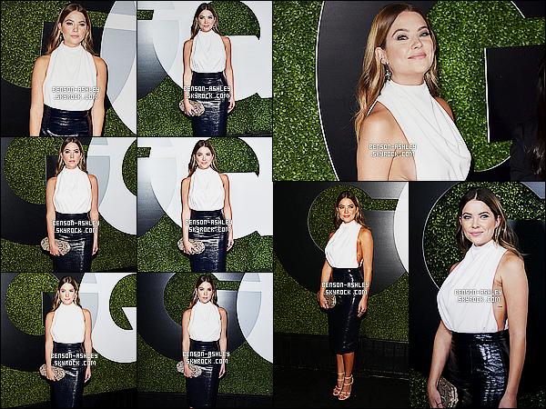 * 03/12/15 : Ashley était présente lors des   GQ Men Of The Year Party   qui c'était déroulé dans  Los Angeles. J'apprécie la tenue qu'Ashley a mise pour l'évenement. J'aime beaucoup qu'elle ai mit un haut blanc avec cette jupe bleu qui lui va bien  ! *