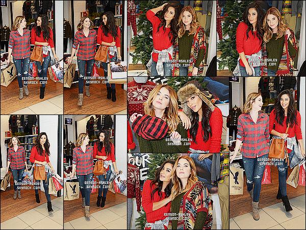 * 08/12/15 : Ashley a été aperçu  entrain de faire du shopping au   American Eagle Outfitters   dans     Hollywood.  Ashley a passé une journée avec sa co-star et amie Shay Mitchell où elles semblent bien s'amuser l'une et l'autre, elles sont très jolies  ! *
