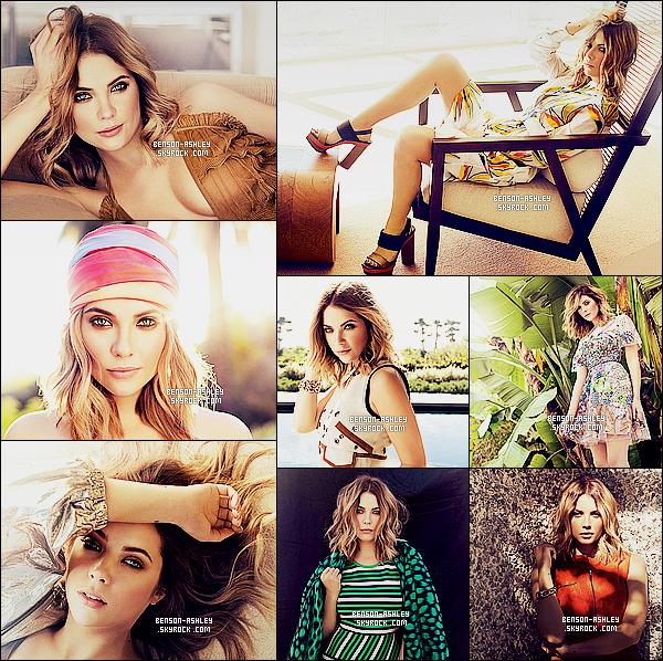 *    Ashley a participé a un photoshoot lumineux pour le célèbre magazine     Ocean Drive.  *