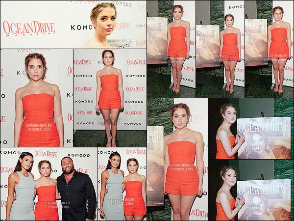 * 28/01/16 : Ashley était présente pour le 23e anniversaire du magasine      Ocean Drive    qui est situé  dans - Miami.   La robe/combinaison short  d'Ashley est magnifique, cette couleur vive orange est très jolie et lui va vraiment bien  - c'est un jolie TOP    ! *