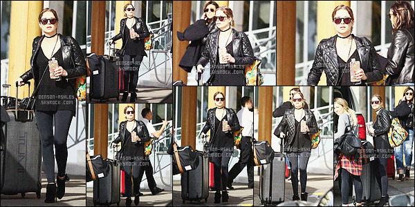 * 29/01/16 : Ashley a été aperçu lorsqu'elle quittait son hotel      Eden Rock     et allant à l'aeroport situé  dans - Miami.   Après quelques heures de bronzage, Ashley quitte Miami pour retourner chez elle. Sa tenue est tout en noir mais jolie, j'aime   - un  TOP    ! *