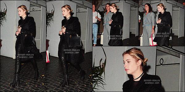 * 09/02/16 : Ashley était présente au      Superga XO Jennifer Meyer C.      qui se déroulait au - Chateau Marmont.   La tenue  d'Ash' passe  mais le problème réside dans l'assemblage j'aime pas son haut on a l'impression qu'elle est en sous-vêtement      -  BOF    ! *