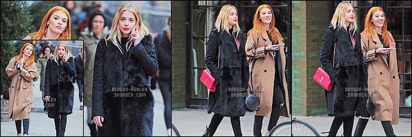 * 20/02/16 : Ashley a été aperçu se promenant avec une de ses amies cette fois            dans les rues de  New York City.    Ashley porte un très jolie manteau noir qui lui va très bien et concernant son sac il est très jolie j'aime vraiment beaucoup -   beau TOP    ! *