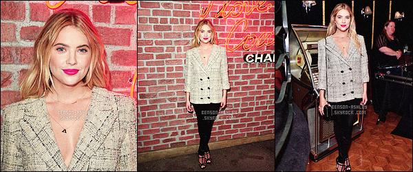 * 25/02/16 : Ashley était présente lors de l'évenement       I Love Coco  Beauty Lounge      situé  dans - Hollywood.  La tenue  d'Ashley est sympa j'aime bien l'ensemble mais si la veste était plus cintrée ça aurait donné un meilleur résultat -  un jolie TOP    ! *