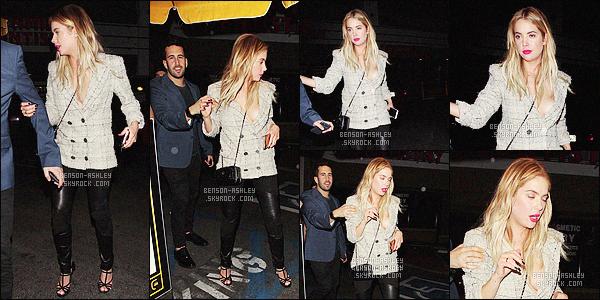 * 29/02/16 :- Ashley a été aperçu lorsqu'elle quittait le      I Love Coco  Beauty Lounge      situé  dans - Hollywood.  La tenue  d'Ashley est très jolie, j'aime beaucoup la veste qu'elle porte elle lui va très bien et le reste est vraiment bien aussi -  un  TOP    ! *