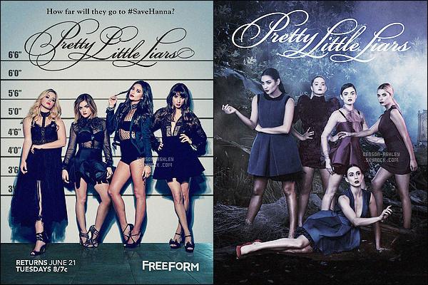*    Découvrez  deux affiches promotionnelles pour la saison 7 de Pretty Little Liars.      *