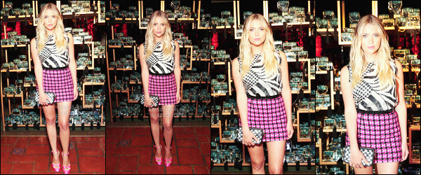 * 21/07/16 : Ashley était présente au    Marc Jacobs Divine Decadence Fragrance Dinner      à   -    Los Angeles. Ce n'est pas le style de tenue que j'aime le plus mais il est très bien sur Ashley les deux pièces s'assemblent assez bien  -  c'est  un TOP  !   *