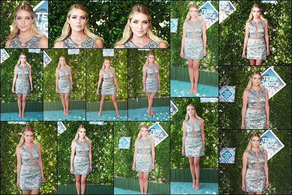 * 31/07/16 : Ashley était présente lors de la cérémonie des    Teen Choice Awards 2016      situé dans  -     Inglewood. Comment dire que la tenue  d'Ashley est vraiment très jolie, j'aime beaucoup ce qu'elle a décidé de porter pour l'évenement  -    gros TOP  !   *