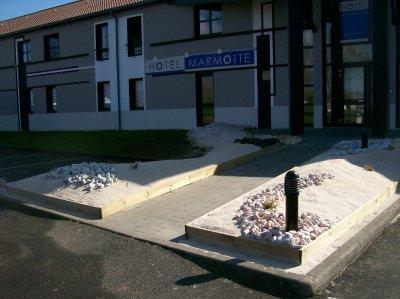 aménagement de l'entrée de l'hôtel MARMOTTE à Rochefort