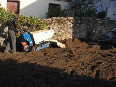 réalisation d'un gazon par semis à Saint Coutant