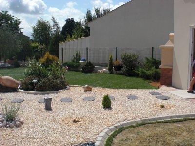 aménagement d'un jardin à Rochefort
