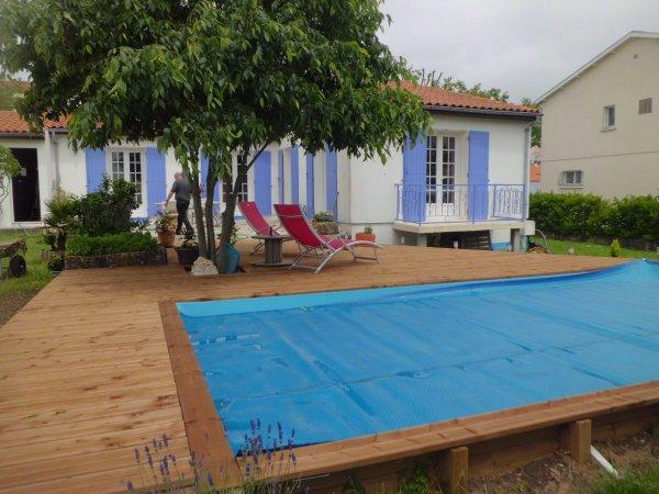 réalisation d'une terrasse bois à Rochefort