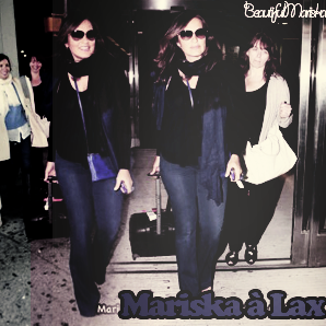 Mariska avec Hilary à Lax Airport