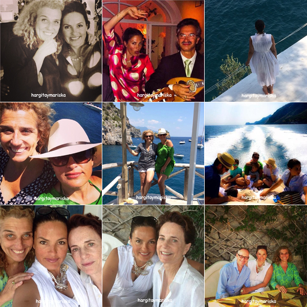 Mariska à Capri en famille